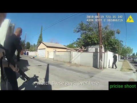Полицейская перестрелка в Лос-Анджелесе, Калифорния.