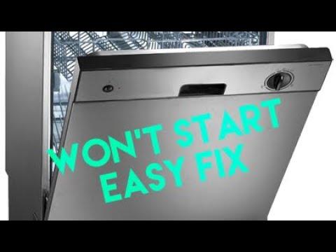 Frigidaire Dishwasher Won T Start Touch Pad Youtube