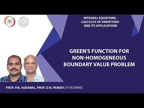 Lecture 17 Green's function for non-homogeneous boundary value problem