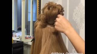 Свадебная причёска высокая