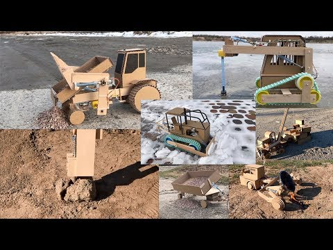 TOP 7 cardboard tractors with their own hands