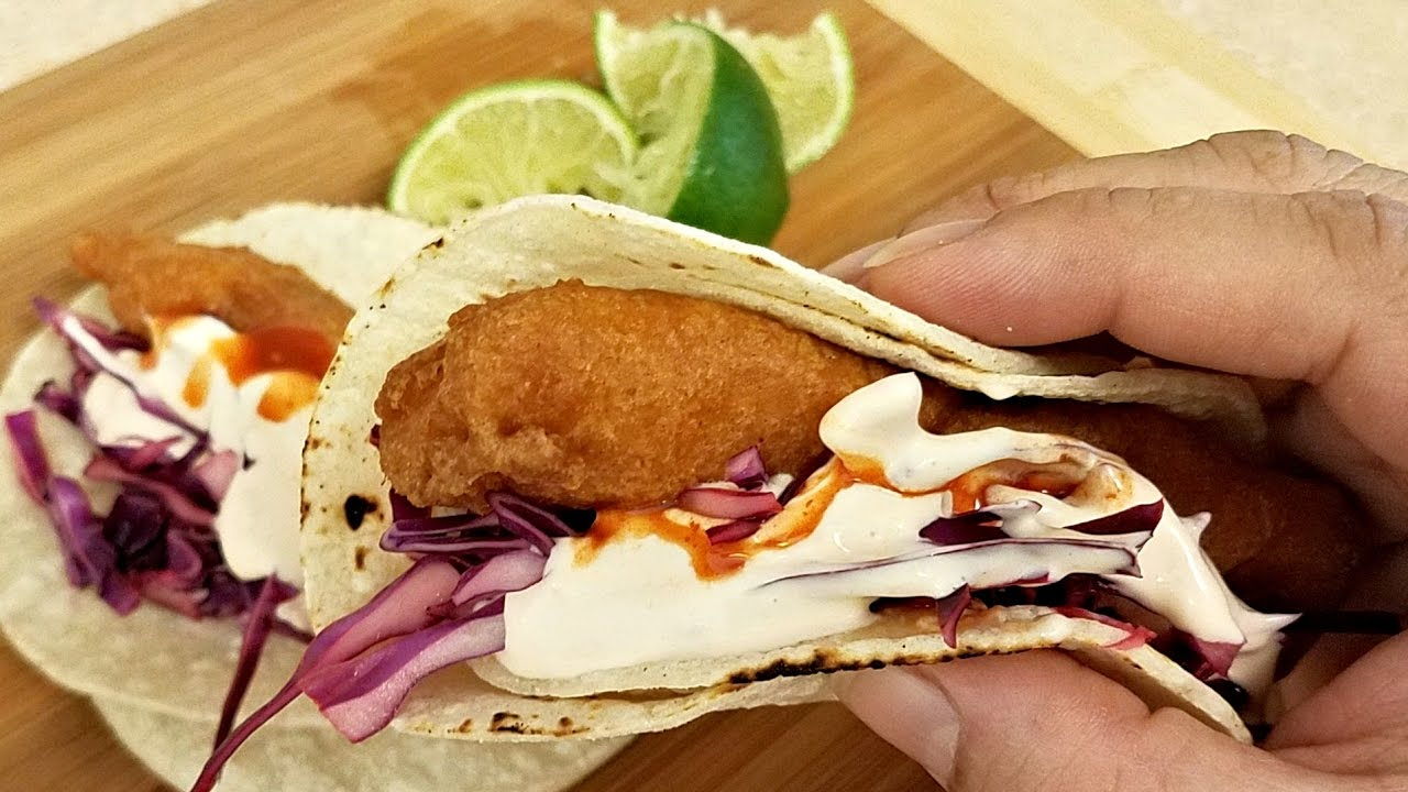 How to make fish tacos crispy beer battered fish recipe for Making fish tacos