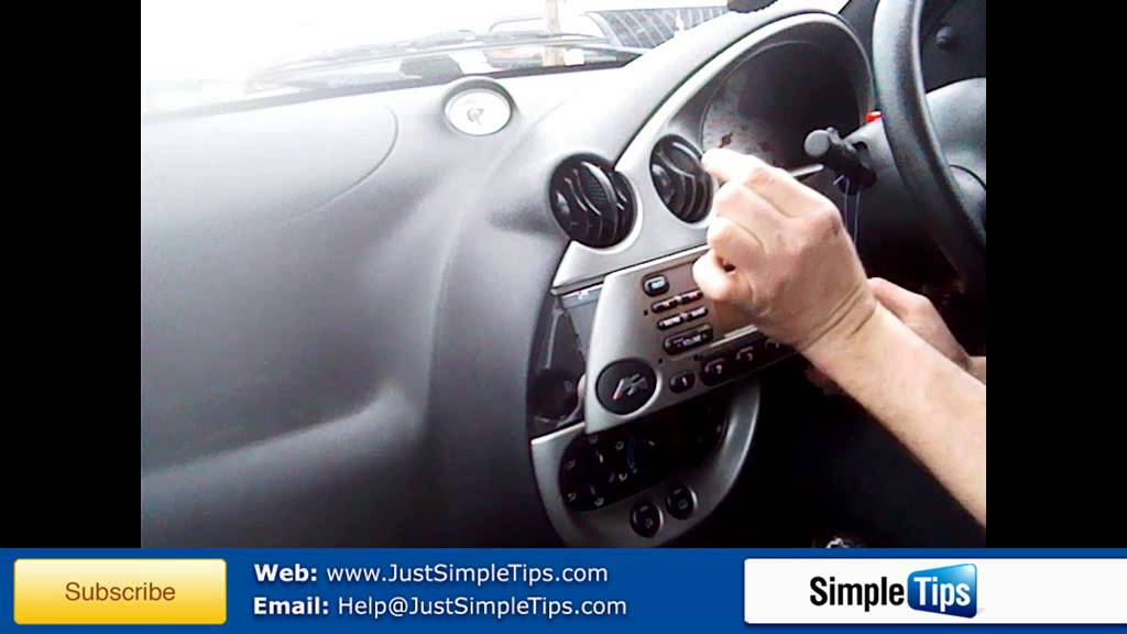 radio removal ford ka 1996 present justaudiotips youtube 1998 dodge ram 1500 infinity stereo wiring diagram