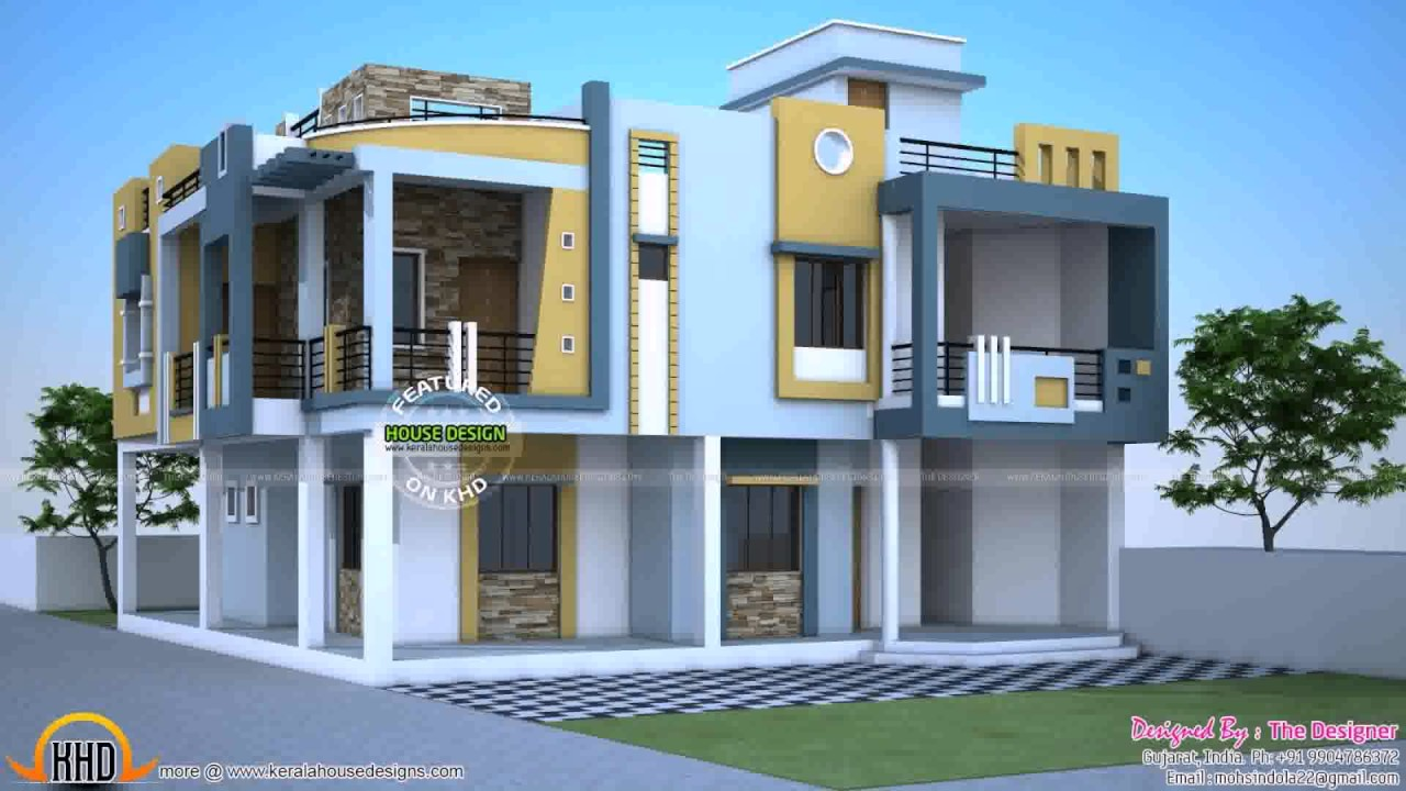 1200 Sq Ft Duplex House Designs In India - YouTube