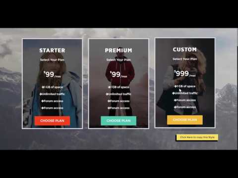 Demo - Ultimate Pricing Table Visual Composer Add On
