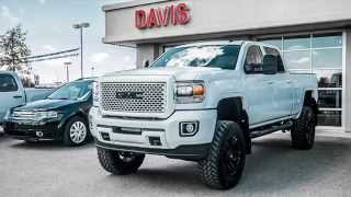 White 2015 Sierra Denali HD Custom Paint Lifted Only In Alberta At Davis GMC Buick