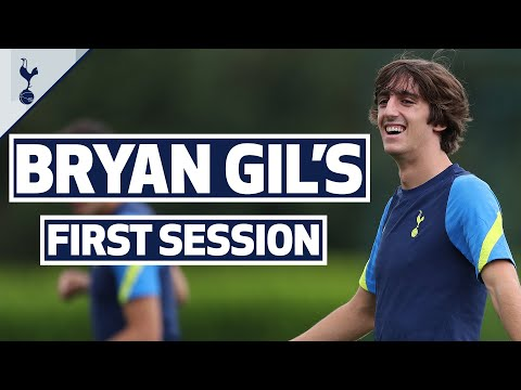 Bryan Gil's first training session!