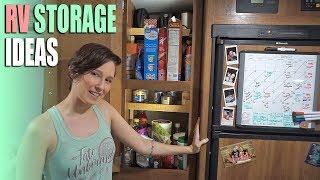 6 RV Storage & Organization Ideas - Space Saving in a Small Trailer