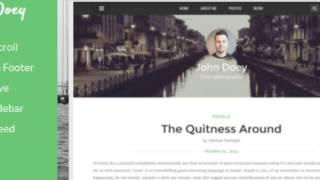 John Doey - Responsive Blogger Template