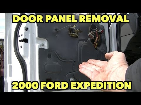 Door Panel Removal Lock Fix 2000 Ford Expedition 1997 2003 Youtube