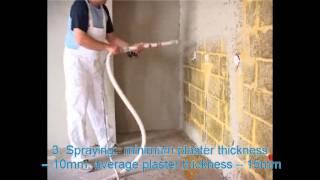 Machine Applied Gypsum Plastering