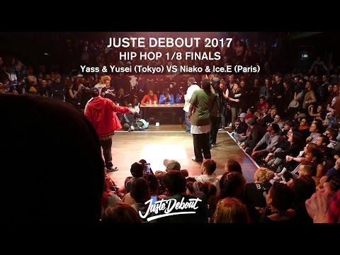 Yass & Yusei VS Niako & Ice E -  1/8 HIP HOP FINALS - JUSTE DEBOUT 2017