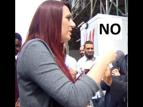Jayda Fransen Learns Why Muslim Man Did Not Shake Her Hand