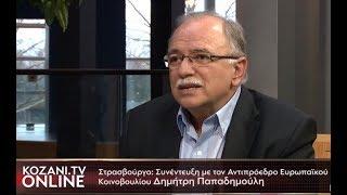 Ο Δημήτρης Παπαδημούλης στο KOZANI.TV ONLINE από το Στρασβούργο