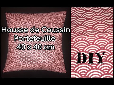 coudre une housse de coussin tuto couture diy youtube. Black Bedroom Furniture Sets. Home Design Ideas