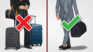 7 Tips To PACK LIGHT & Avoid Luggage Fees (Travel Essentials For Men)