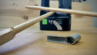 як зробити круглу палицю з дерева