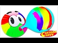 Learn and Play with Rainbow Balloon Painting | WonderBalls | Cartoons For Children | Cartoon Candy