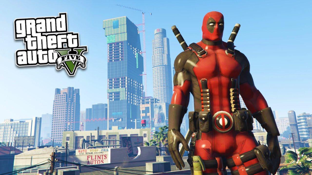 Grand Theft Auto 5 Car Wallpaper Gta 5 Pc Mods Ultra Realistic Deadpool Mod Gta 5
