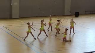 CHIMILIN twirling bâton équipe cadette n2 de  2019, 7 ème de france