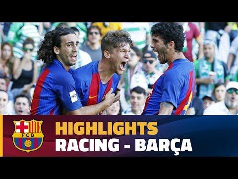 [HIGHLIGHTS] FUTBOL (2AB): Racing - FC Barcelona B (1-4)