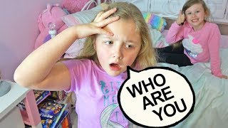 Ava Isla and Olivia Pretend Play I LOST MY MEMORY PRANK ON MOM AND DAD!!