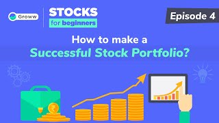 Stock Market for Beginners - How to Build a Stock Portfolio   Stock Investing for Beginners in Hindi