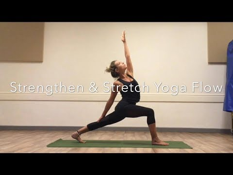 strengthen  stretch 15 minute yoga flow  youtube
