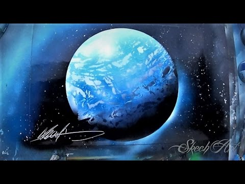 How to Spray paint PERFECT 3D planet and stars - Tutorial by Skech