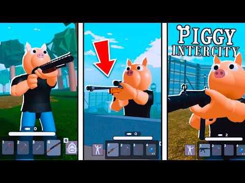 How to Find ALL WEAPONS!? l PIGGY: INTERCITY! (New Piggy Game) l Roblox
