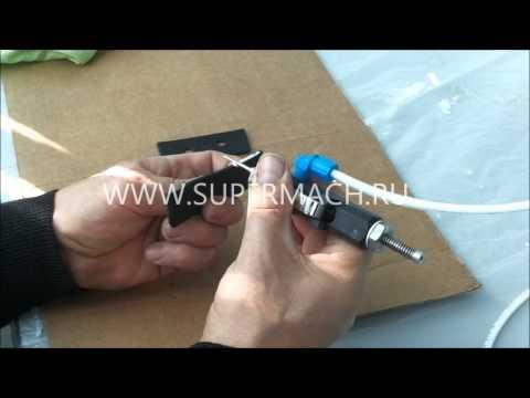 видео: Красильная машина для закрашивания среза изделий и отверстий
