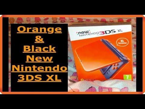 New Nintendo 3DS XL ORANGE & BLACK Unboxing (English) - YouTube