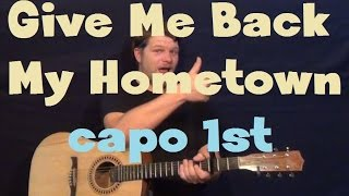 Give Me Back My Hometown (Eric Church) Easy Guitar Lesson Strum Chord How to Play Tutorial
