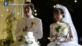 [HD] Kelvin Khánh & Khởi My rót rượu, cắt bánh và hôn nhau trong tiệc cưới (23/11/2017)