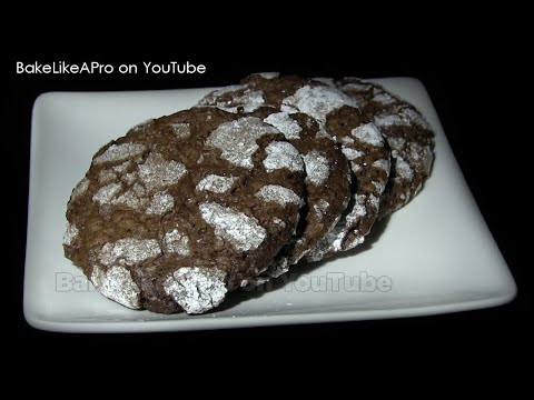 YUMMY CHOCOLATE ALMOND Crackle Cookies Recipe