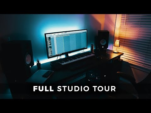 FULL TOUR OF MY MUSIC STUDIO & Beatmaking Vlog