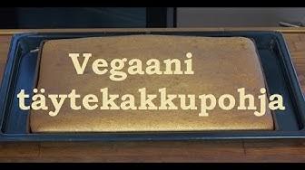Vegaani kakkupohja