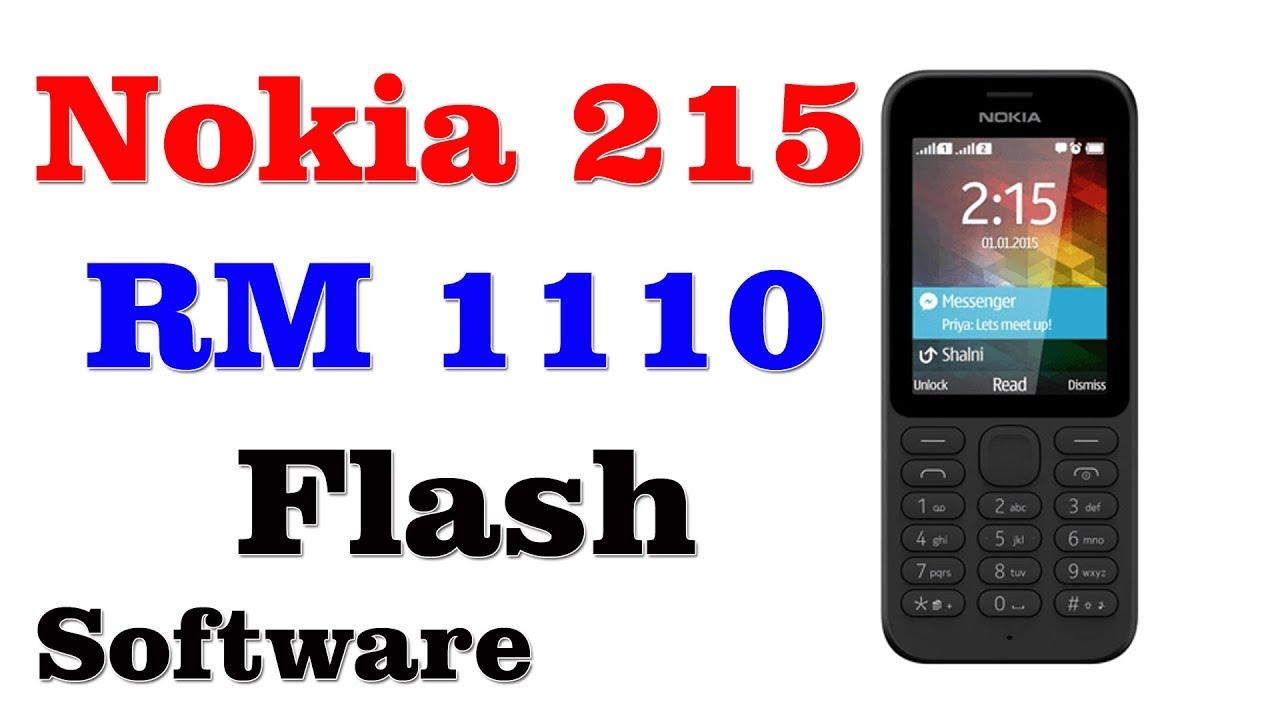 Nokia 215 RM 1110 Flash - YouTube