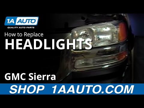 How To Install Replace Headlight on a GMC Sierra 9906