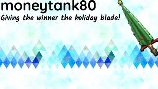 Giving The holiday Blade to the winner (Roblox Assassin)