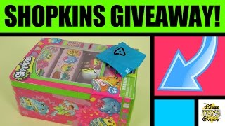 Free Stuff Shopkins Giveaway Contest #28 Open - Shopkins Toys - Shopkins Vending Machine Storage Tin