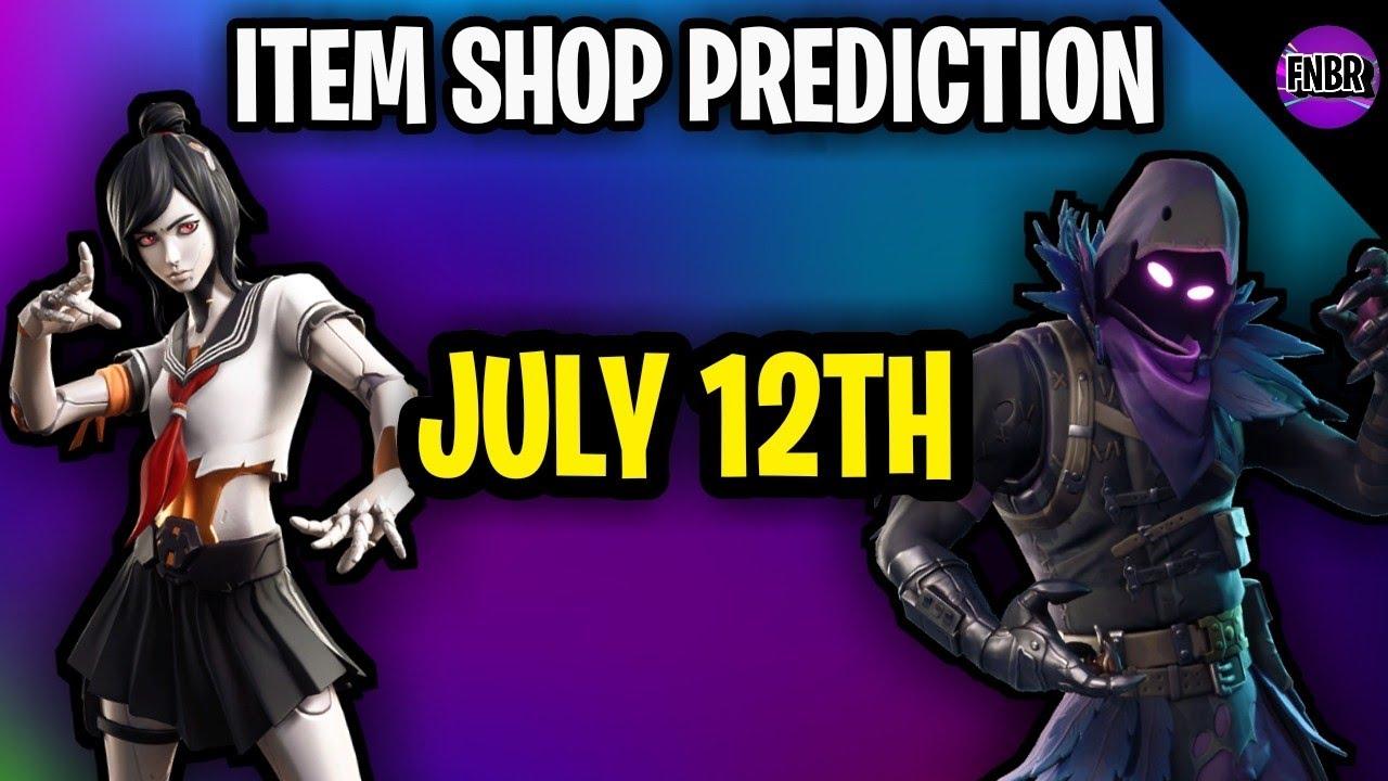 Fortnite Item Shop Prediction - July 12th 2020