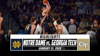 Notre Dame vs. Georgia Tech Basketball Highlights (2019-20) | Stadium