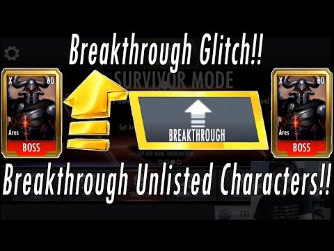 Breakthrough Unlisted Characters Glitch! NO HACKS! Injustice Breakthrough Mode Any / All Characters!
