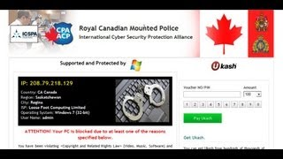 How to Remove Royal Canadian Mounted Police Ukash (ICSPA)  virus