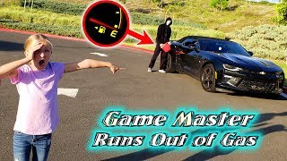 Game Master Runs Out of Gas! Tracking Game Master in Our Car!!!