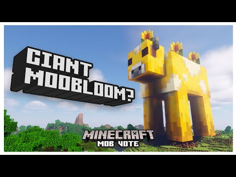 Minecraft 1.17 - Mob Vote | I made a GIANT MOOBLOOM