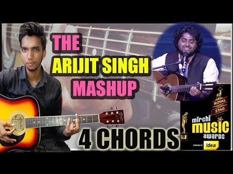 Arijit Singh - 6th Royal Stag Mirchi Music Awards Guitar Easy Chords Lesson Tutorial