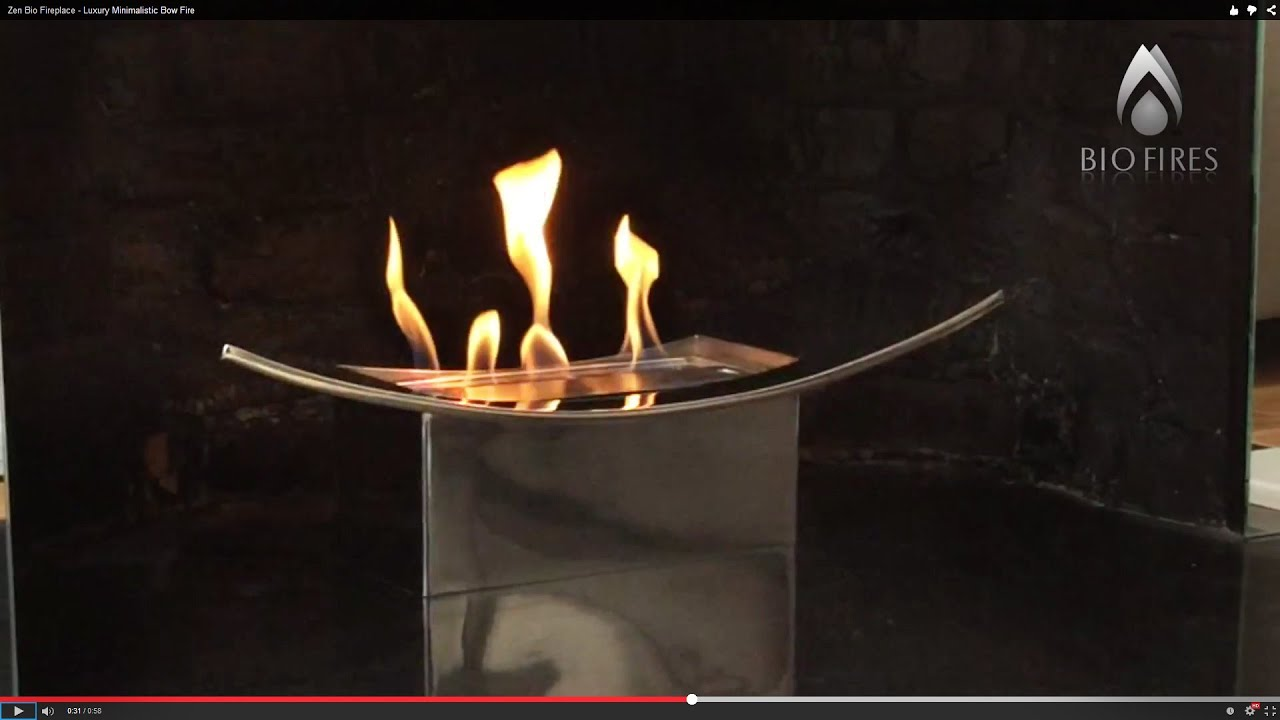 zen bio fireplace luxury minimalistic bow fire youtube