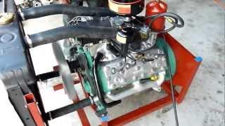 Ford Vedette 1954 - Démarrage moteur V8 dans l'atelier de restauration Techni-tacot